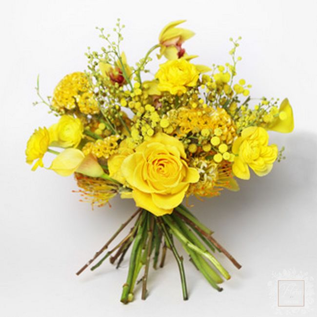 bouquet un colore giallo