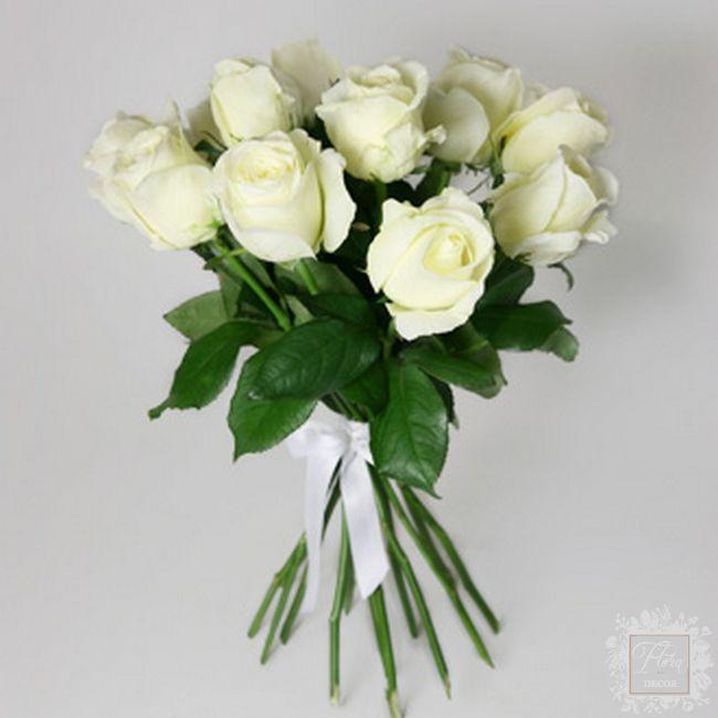 bouquet semplicemente bianco rose