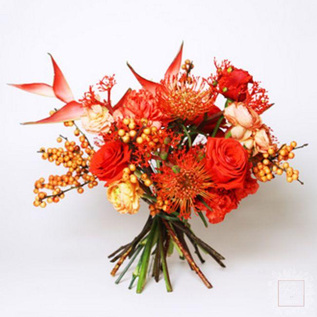bouquet stagione selvaggia rosso intenso
