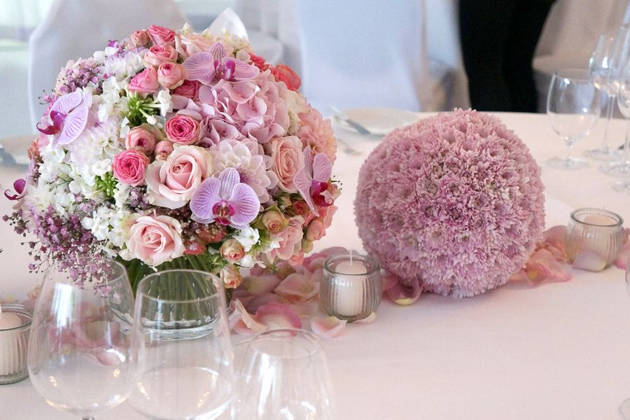centrotavola in rosa