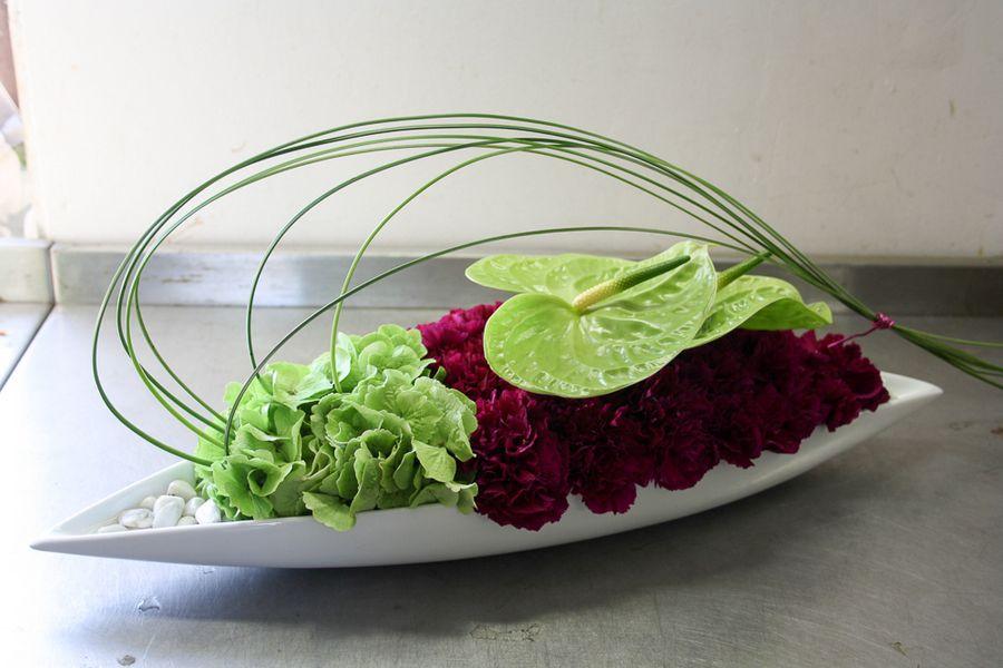 vassoio fiori reception