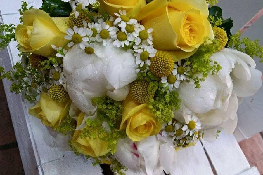 bouquet sposa gialla