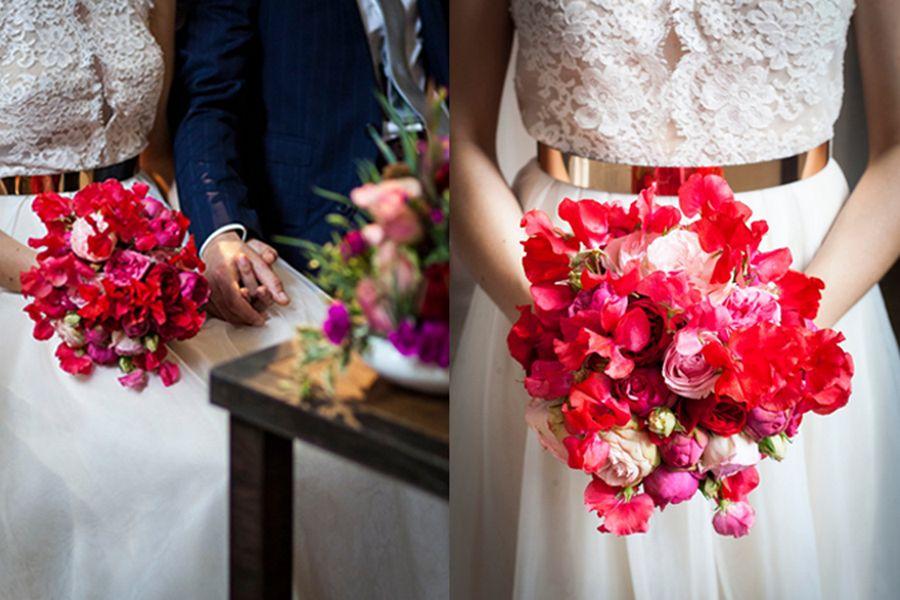 bouquet sposa rosso