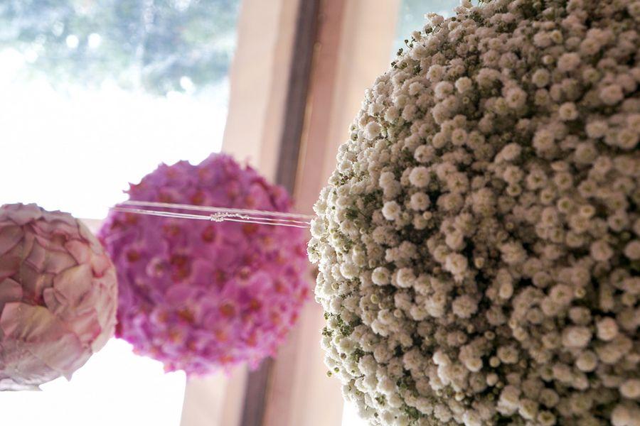 addobbo sospeso in fiori
