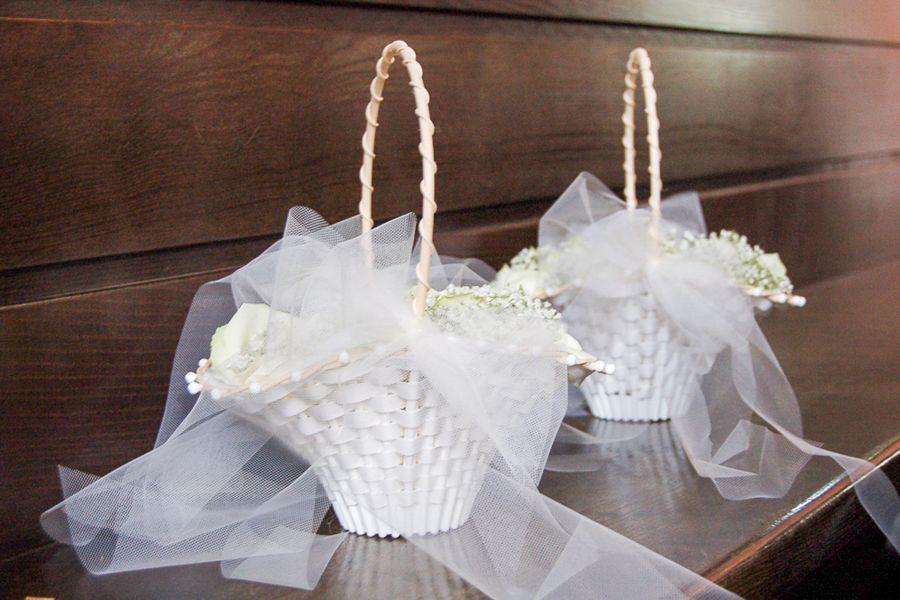 cestini di fiori per matrimonio
