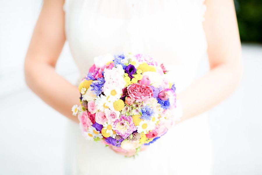 bouquet da sposa arcobaleno